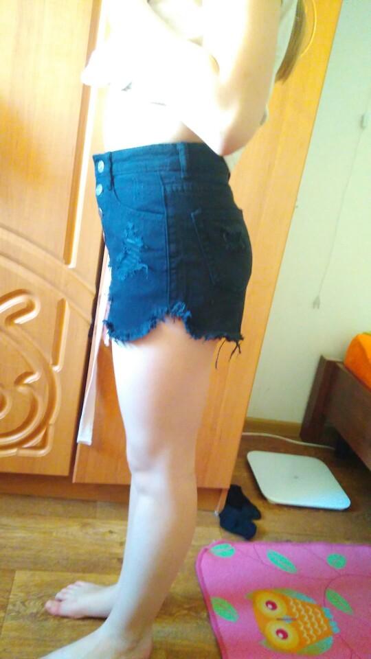 2016 Европейский и американский BF летний ветер женский синий высокая талия джинсовые шорты женщин носить свободные заусенцев Джинсы с прорехами Шорты