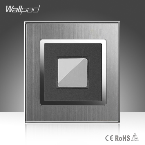 Touch Delay New Arrival Wallpad Hotel 110-220V Silver Satin Metal Panel EU UK US Touch Delay Corridor Stairs Wall Switch new opportunities uk us