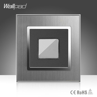 Touch Delay New Arrival Wallpad Hotel 110 220V Silver Satin Metal Panel EU UK French Touch