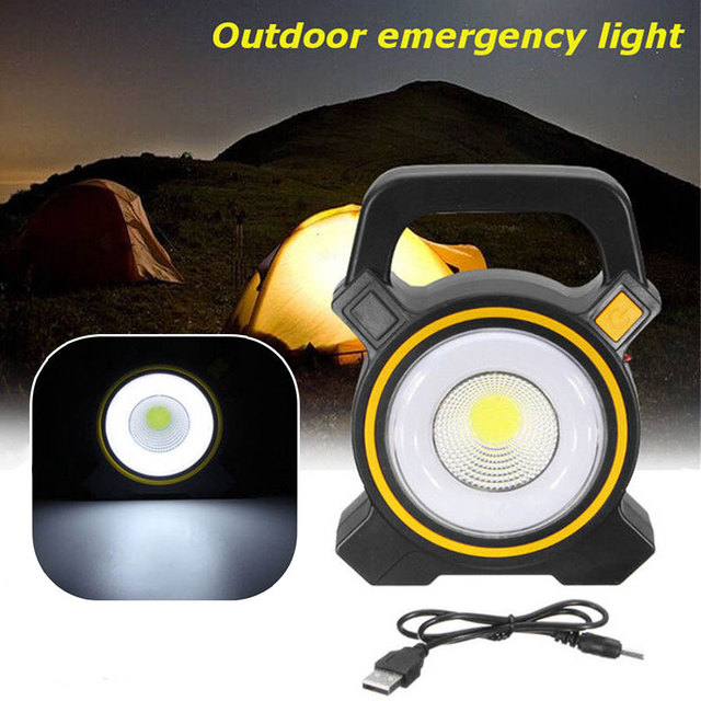 50W Solar Power LED COB Flood Light USB Rechargeable Portable Lanterns Outdoor Working Spot Light Camping Hiking Flashlight Lamp 2
