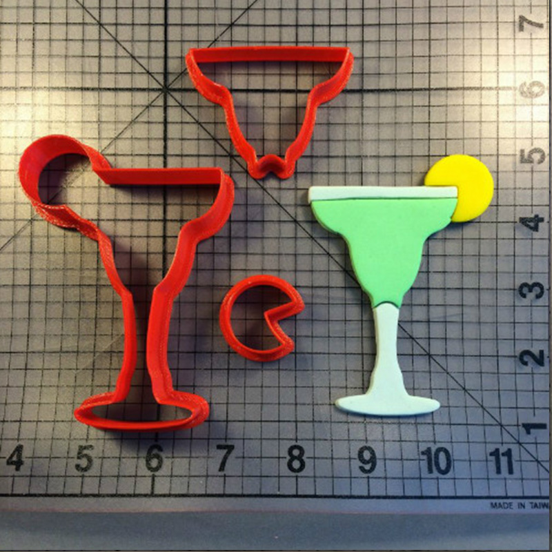 Cocktail Glass Design Cookie Cutter Set Custom Made 3D Printed Custom Fondant Cake Decorating Tools Kitchen Accessories in Cookie Tools from Home Garden