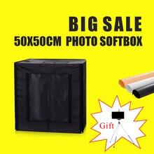 50X50X50CM Photo Sudio Soft Box Fotografia Lightbox Studio kits With Free Gift AC Adaper+Carry Bag