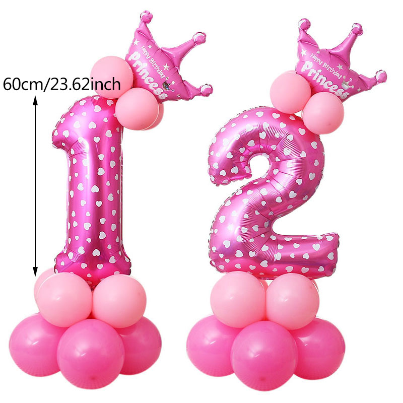 Birthday Party Decorations Kids Number Balloons Digit Helium Wedding Decoration Happy Supplies In Ballons Accessories