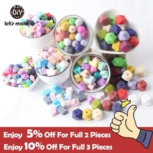 Silicone Beads BPA Free Silicone Teether Beads14mm Baby Teething Jewelry Making