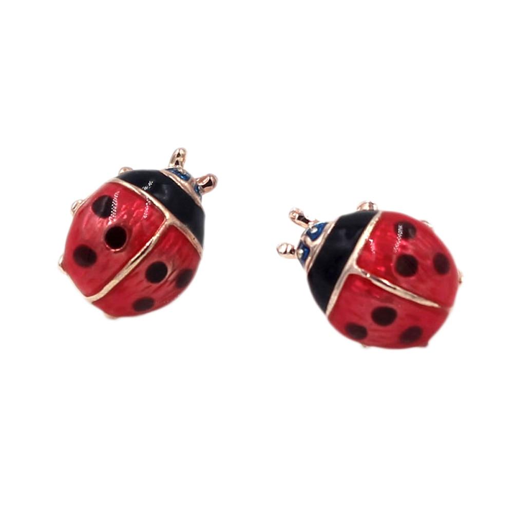 Cute small ladybug earrings brincos for women girl stud earrings fashion jewelry pendientes mujer moda marca famosas