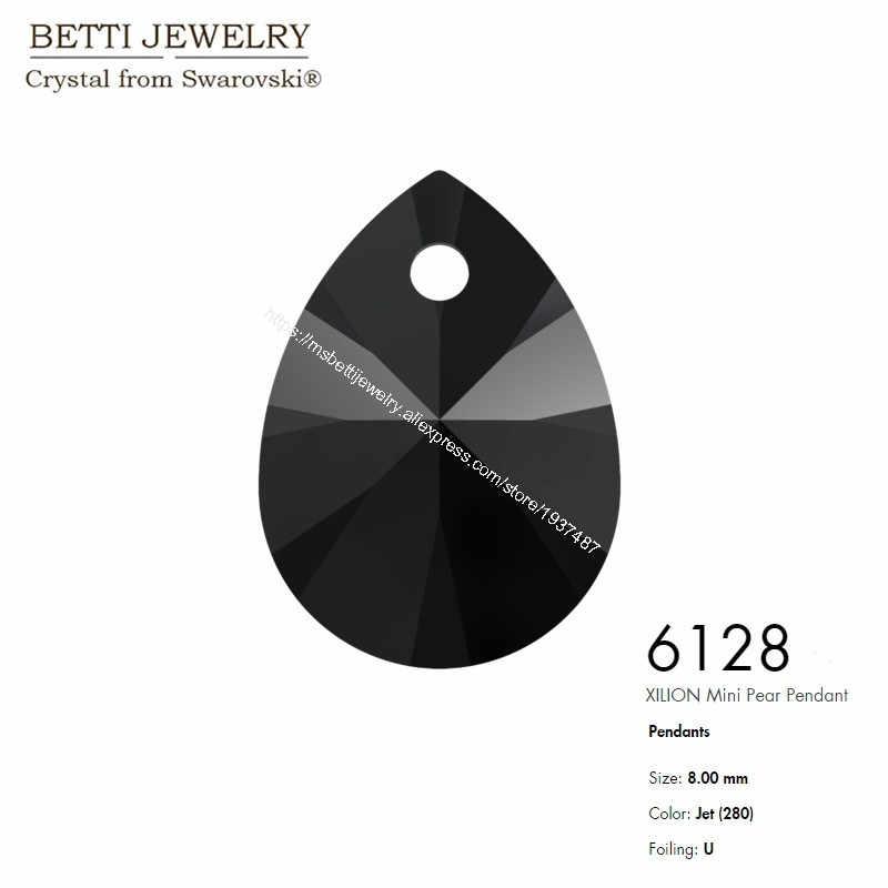 MS bettiでクリスタルからswarovski 6128 xilionミニ梨ペンダント8ミリメートルルースビーズ石小売用ジュエリー作りビジュー
