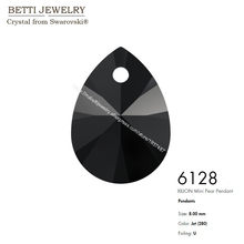 Ms Betti with crystal from SWAROVSKI 6128 XILION Mini Pear Pendant 8mm loose beads stone retail for jewelry making Bijoux(China)