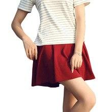 High Waist Puffed Pleated Skirts Large Size School Uniform Casual Fashion Girl Skirts Harajuku Girls A-line Mini Skirt