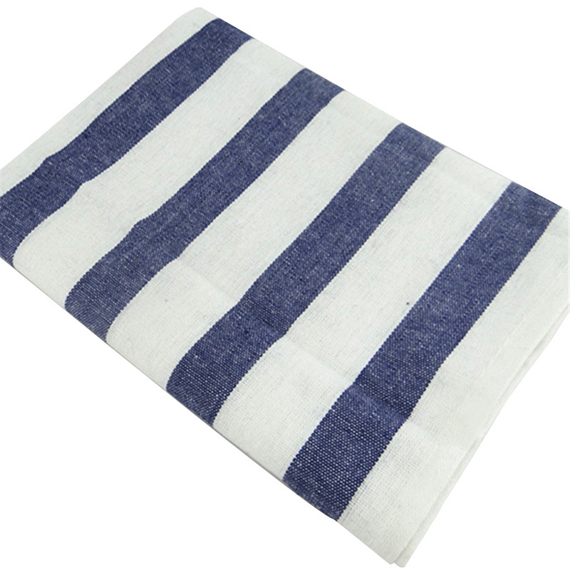 Thin Cotton Linen Napkin Cloth Single Layer 40*60cm Square Table Napkins Fine Stripe Coarse Stripe Plaid 2pcs/pack