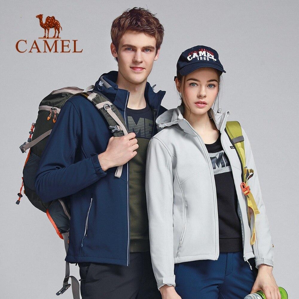 CAMEL Men Women Outdoor Sport Softshell Hiking Jacket Waterproof Windproof Thermal Hunting Fishing Windbreaker Tactical Coat