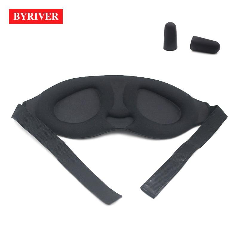 Image 3 - BYRIVER Sleeping Eye Mask, Travel Sleep Eye Shade Cover, 3D Memory Foam Nap Eye Patch Blindfolds Blinders, FREE Earplug-in Sleep & Snoring from Beauty & Health
