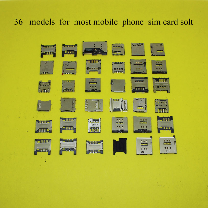 36 models each for most mobile phone sim SD TF memory card socket holder tray slot for Apple 4 5 5s 6 lenovo for Nokia Sony 36L in SIM Card Adapters from Cellphones Telecommunications
