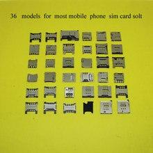36 models,each for most mobile phone sim SD TF memory card socket  holder tray slot,for Apple 4 5 5s 6/lenovo/for Nokia Sony 36L