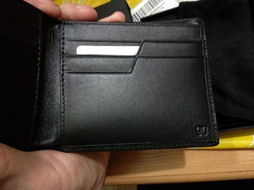 XIAOMI 90FUN Concise Business Casual Billfold Wallet Safiano Genuine Cow Leather for Men Women Card Holder Black photo review