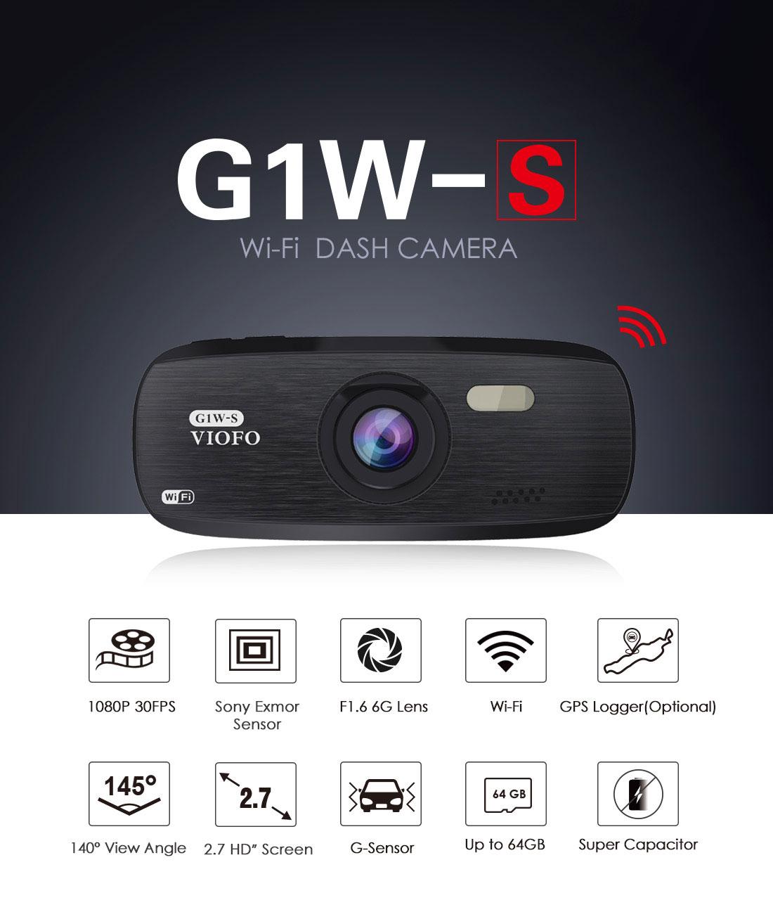 Видеорегистратор G1W-S Wi-Fi