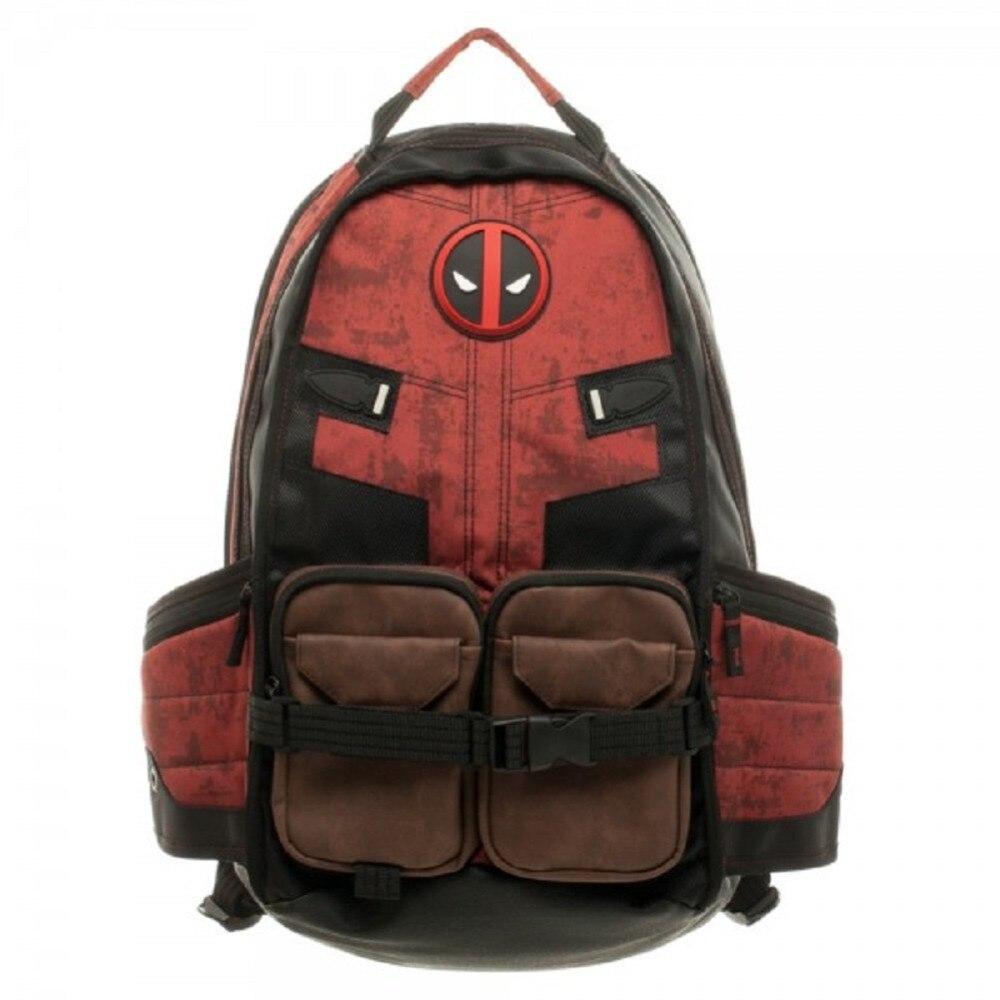 Marvel Дэдпул рюкзак Бэтмен Повседневная сумка для ноутбука Подростковая школьная сумка для мальчиков и девочек косплей рюкзак Mochila Мужская Ж...