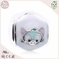 Gute Qualität Neue Kollektion Emaille Nette Katze Design 925 Reinem Silber Charme Passend Europäischen Berühmte Armband