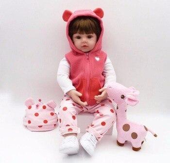 48cm New Handmade Silicone reborn baby adorable Lifelike toddler  Bonecas girl kid menina de silicone lol doll bebes reborn doll