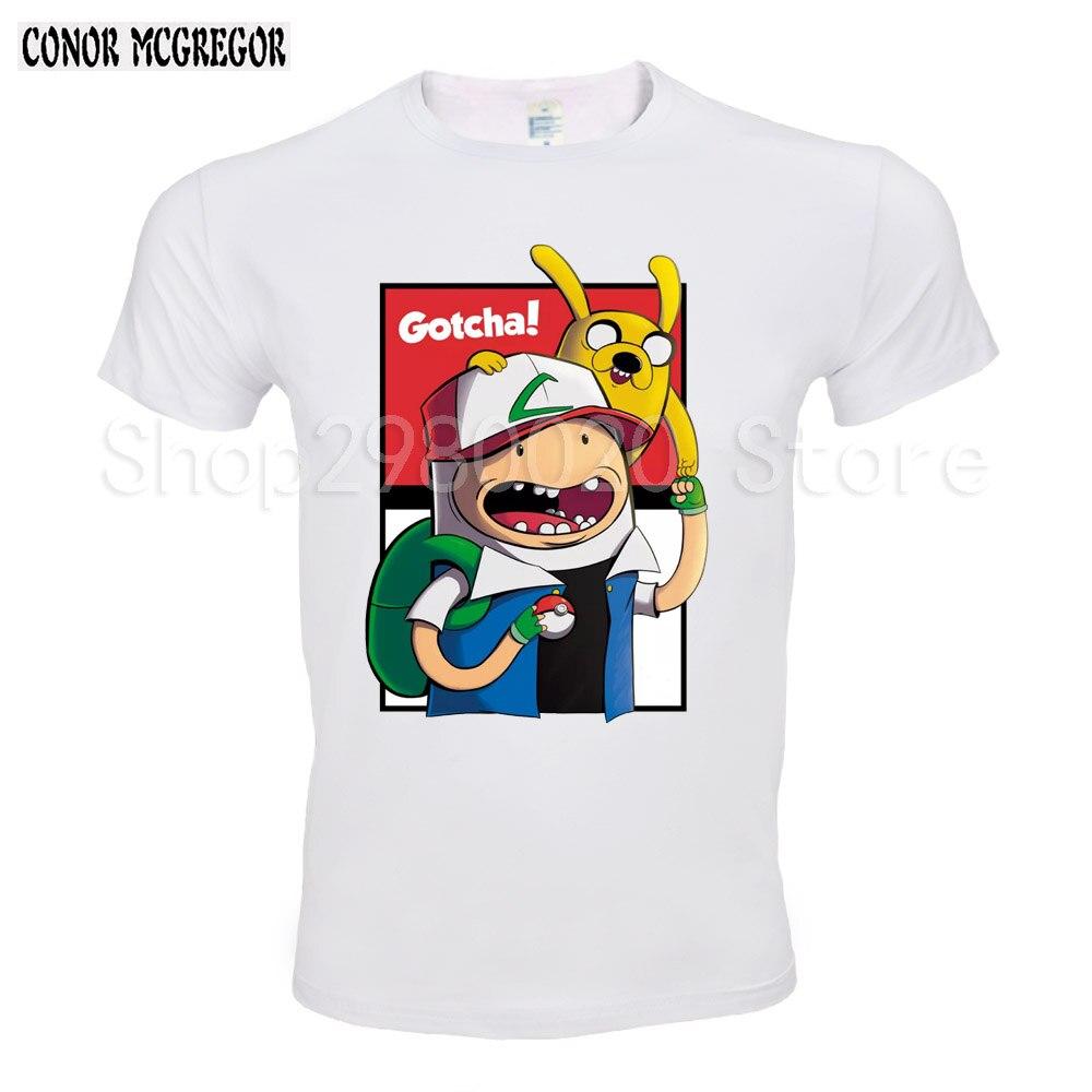Бодибилдинг футболки человек Костюмы Adventure time 2018 Новая мода Для мужчин футболки короткий рукав Футболка