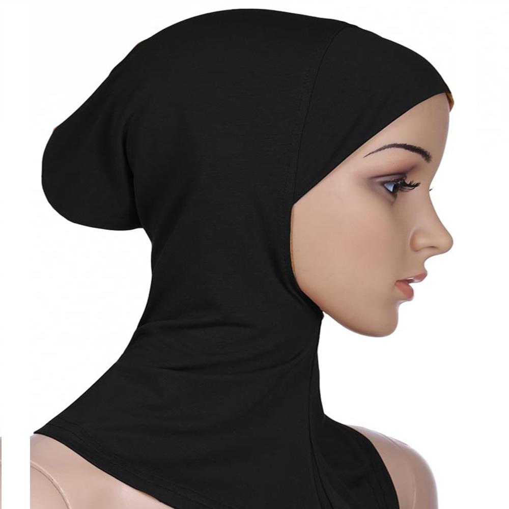 Image 5 - Women Caps Ninja Head Cover Bonnet Hat Underscarf Muslim New  Style Scarf Amira Arab Islamic Beanies Skullies Neck Cover  FashionWomens Skullies