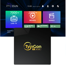 TyinGon 2019 Android tv box 2G16G 4G32G 4K H.265 Smart tv box Set-top box With 1 Year iptv Summer Time Buy Now Get 1 year gift