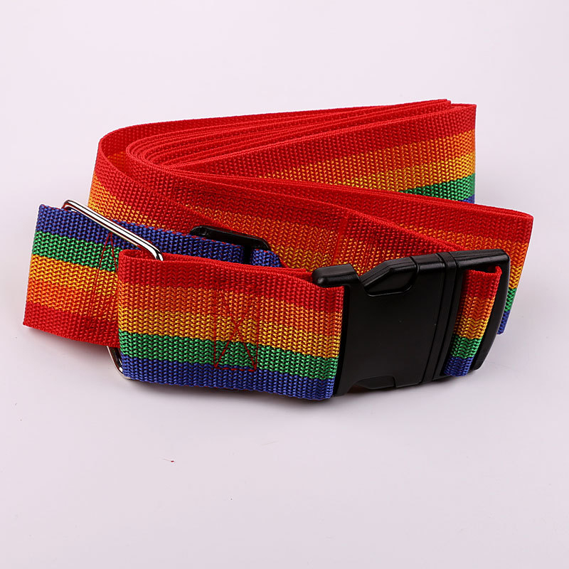 1pc Colorful Travel Luggage Strap + style Belt with 3Digits Passwords Lock Adjust able Nylon Suitcase secure Safe Packing Belt