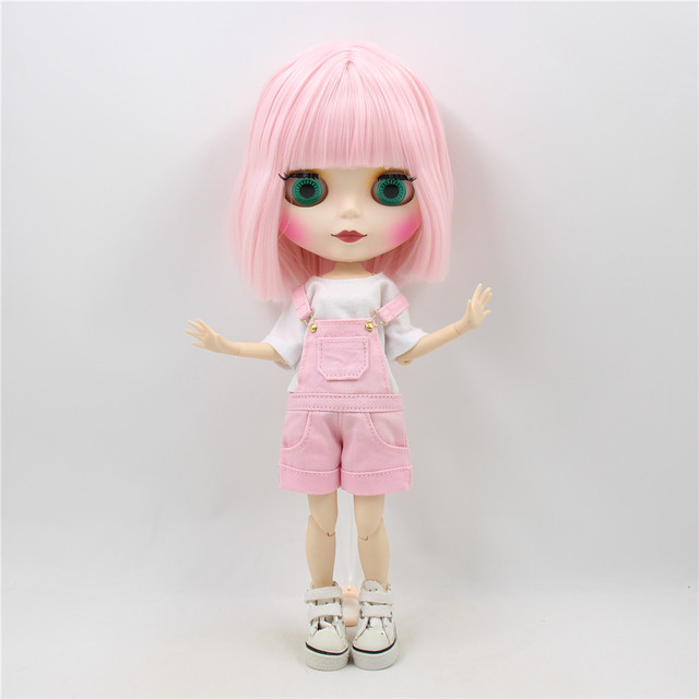 Pretty Pink Hair Hard Plastic Doll