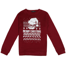 2017 NEW Fashion Winter Christmas Theme Clothing Long-Sleeved Round Neck Men Lovers Prints Sweater