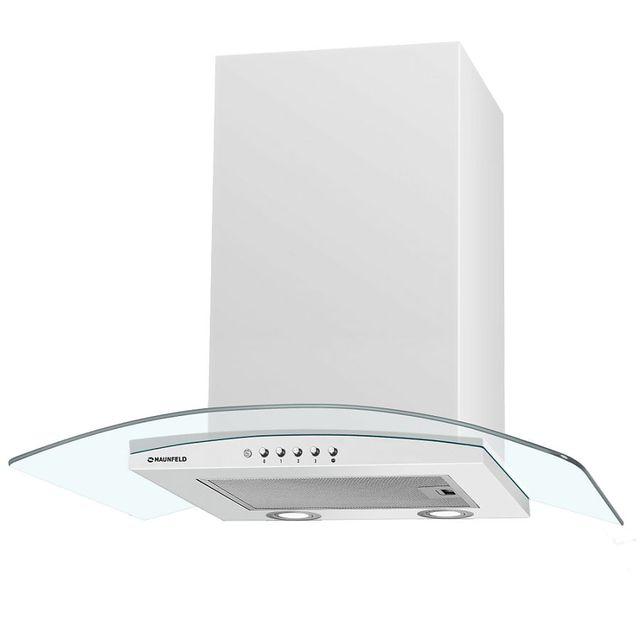 Кухонная вытяжка MAUNFELD Ancona Plus (C) 50 белый/прозрачное стекло