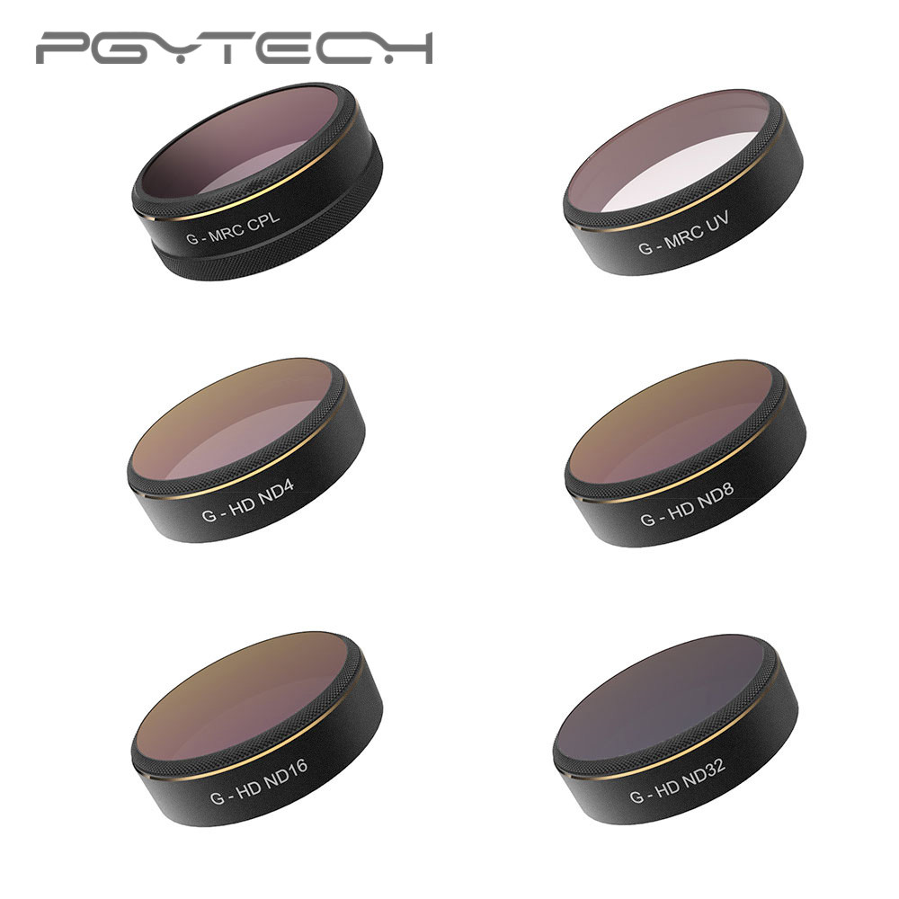 PGYTECH DJI Phantom 4 PRO ND Filter 6pcs/set UV/CPL/ND4/8/16/32 HD Drone Quadcopter Lens Filters for Phantom 4 PRO Accessories slow jig lead fish lure 40g metal jigs 7cm slow jigging lures 8 color 1pcs lot salt water fishing lures