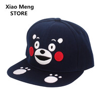 High Quality Japan Mascot Kumamoto Ken Kumamon Baseball Caps Hats Men Women 3D Embroidery Gawk Bear