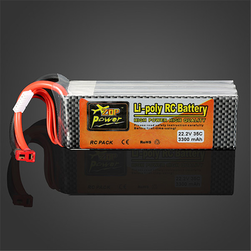 Hot New High Quality ZOP Power 22.2V 3300MAH 6S 35C Lipo Battery T Plug high quality zop power 11 1v 1500mah 25c lipo battery t plug