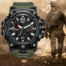 Top luxury brand G style men's military Sports Watches Dual Display Mens Quartz Wristwatch Men Waterproof Digital Watch Relogio