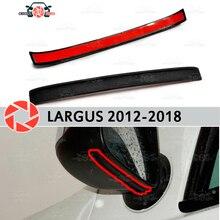 Зеркальный спойлер для Lada Largus 2012-2018 аэродинамическая резиновая отделка анти-всплеск охранные предметы брызговик автостайлинг