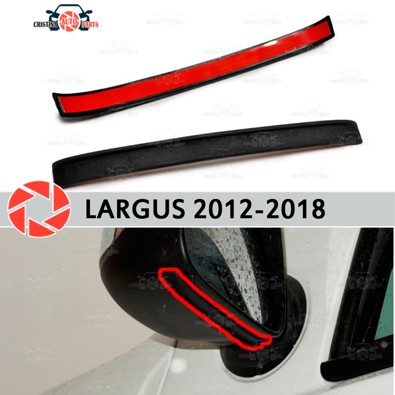 Mirror spoiler for Lada Largus 2012-2018 aerodynamic rubber trim anti-splash guard accessories mud guard car styling