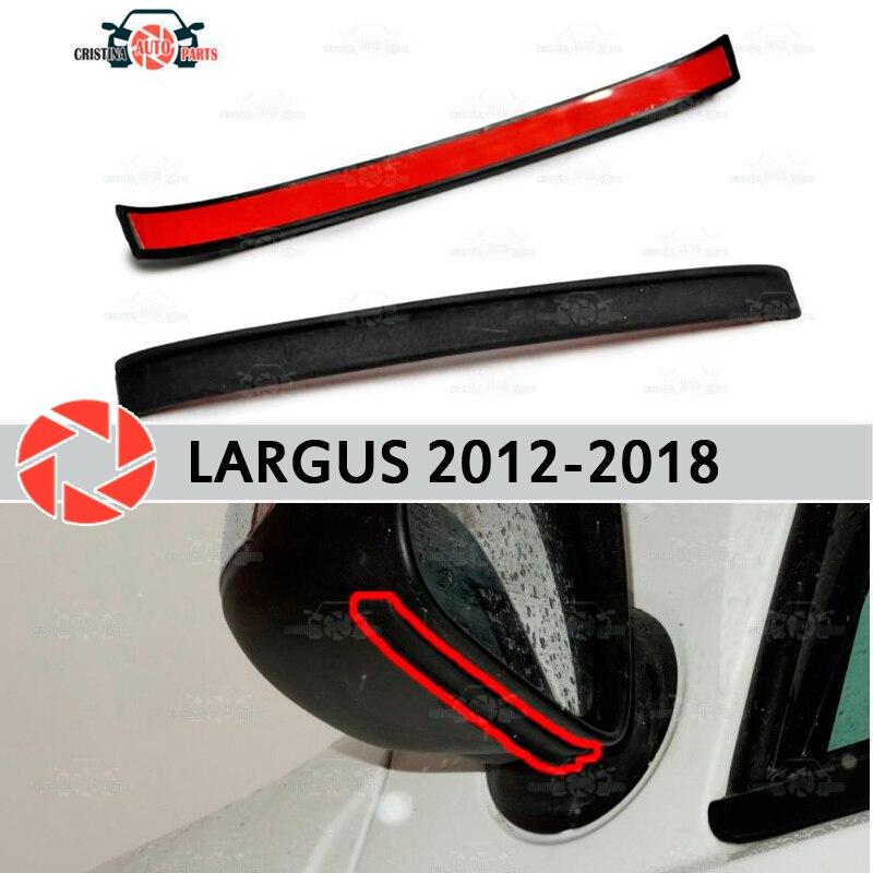 Mirror spoiler for Lada Largus 2012-2018 aerodynamic rubber trim anti-splash guard accessories mud guard car styling