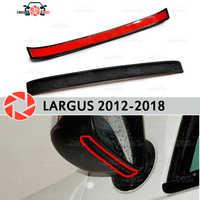 Spoiler lustrzany do Lada Largus 2012-2018 aerodynamiczna gumowa tapicerka osłona rozbryzgowa akcesoria osłona przeciwbłotna car styling