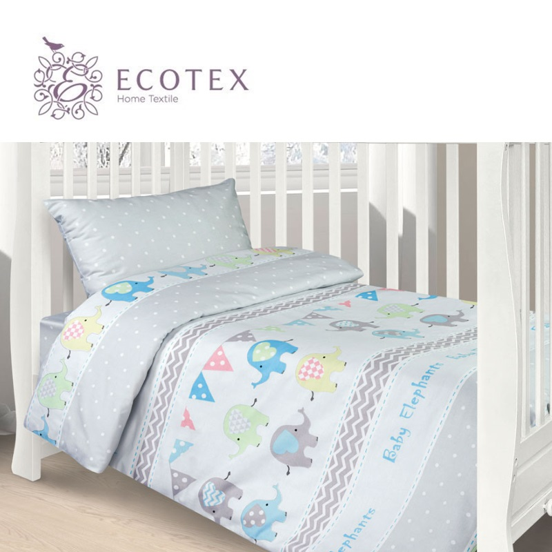 Фото - Baby bedding Elephant,100% Cotton. Beautiful, Bedding Set from Russia, excellent quality. Produced by the company Ecotex flower print bedding set