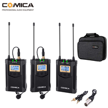 Wireless Camera Microphone Comica WM100 PLUS Dual Lavalier Lapel Mic System for