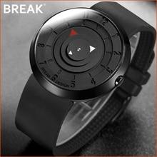 BREAK Minimalist Luxury Brand Watch Men Women Black Waterproof Fashion Casual Military Quartz Sports Watches