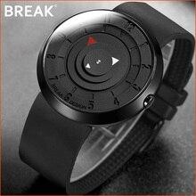 Минималистичные Роскошные Брендовые Часы BREAK для мужчин и женщин, черные водонепроницаемые Модные Повседневные военные кварцевые спортивные часы