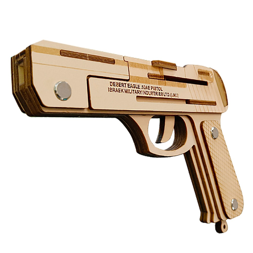 IMI Desert Eagle Rubber Band gun wooden toys Wooden Shooting Toy Guns Boys Outdoor Fun Sports For Kids ...