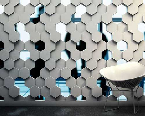 Ceramics & Pottery *honeycomb* 3d Decorative Wall Panels 1 Pcs Abs Plastic Mold For Plaster For Sale