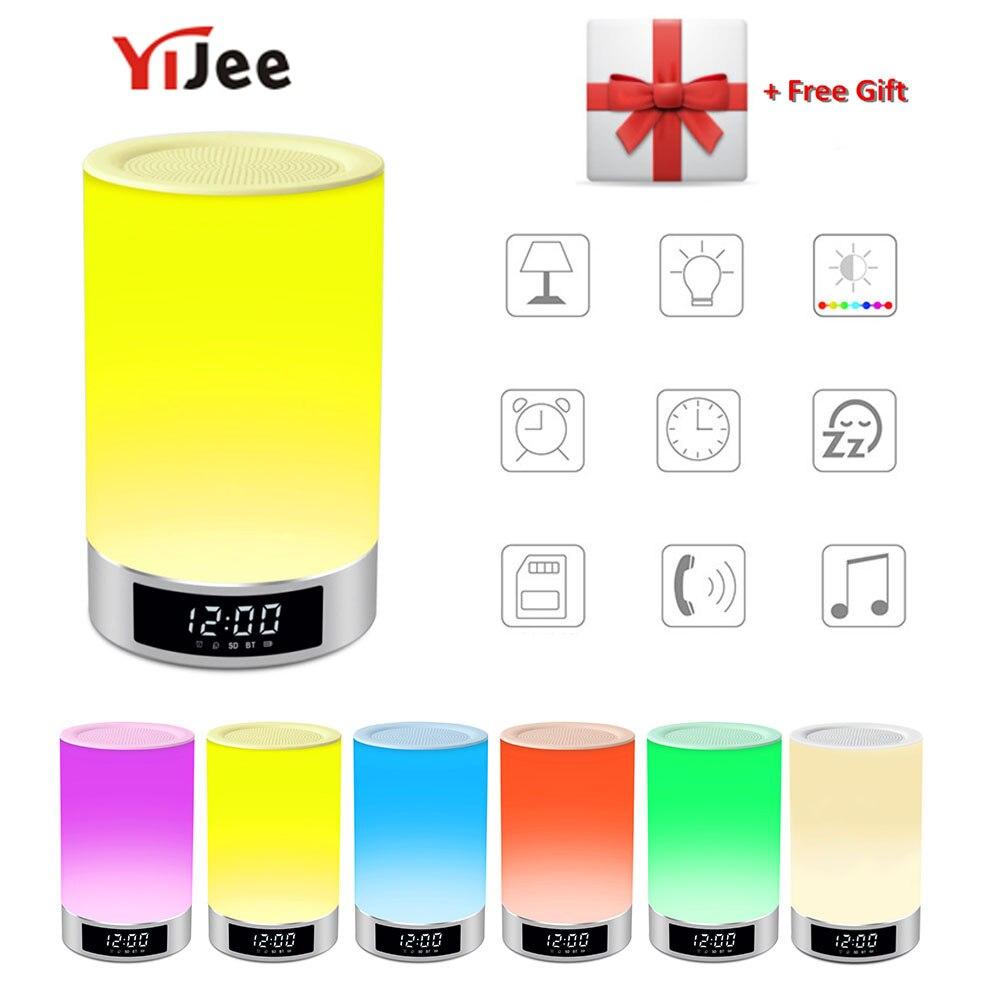 Ehrgeizig Yijee Drahtlose Bluetooth Lautsprecher Tragbare Neben Lampe Touch Dimmbare Licht Rgb Farbe Freisprecheinrichtung Nachtlicht Mit Wecker Unterhaltungselektronik Lautsprecher