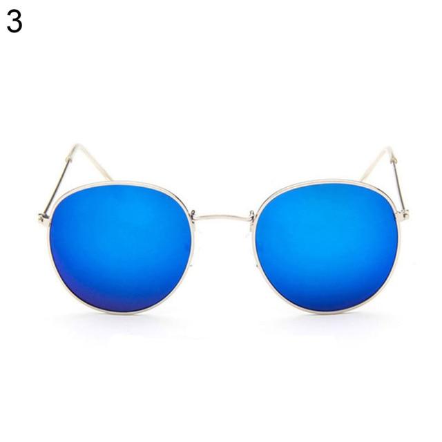 04d9175e4f 5 Color Retro Fashion Men Women Round Oversized Thin Frame Mirror Glasses  Sunglasses