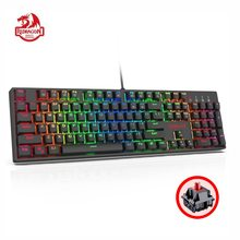 Redragon K582 SURARA Mechanical Gaming Keyboard RGB LED Backlit with 104 ABS Keys-Linear Quiet Red Switch Wired for Dota Gamer