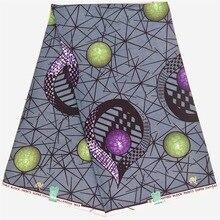 Veritable Wax African Ankara Fabric 6 Yards/Piece  real Batik For Women A1112