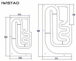 Image 5 - IWISTAO HIFI 3 סנטימטרים מלא טווח רמקול ריק ארון 1 זוג סיים עץ מבוך מבנה קבוע פנל עבור מגבר מנורות