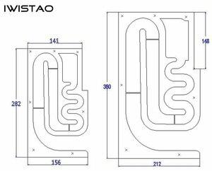 Image 5 - Iwistao Hifi 3 Inch Full Range Speaker Lege Kast 1 Paar Afgewerkte Houten Labyrint Structuur Vaste Panel Voor Buizenversterker