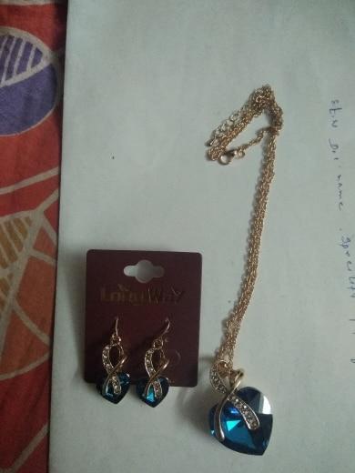 SZELAM 2019 Crystal Heart Necklace Earrings Jewellery Set for Women Bridal Wedding Accessories SET140044